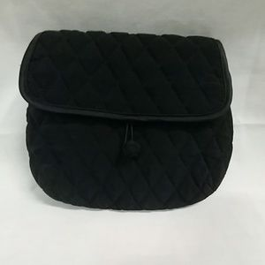 Vera Bradley quilted black shoulder purse
